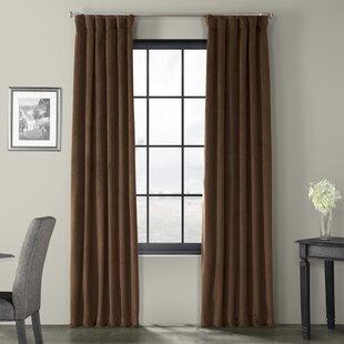 Taupe Velvet Curtains Wayfair