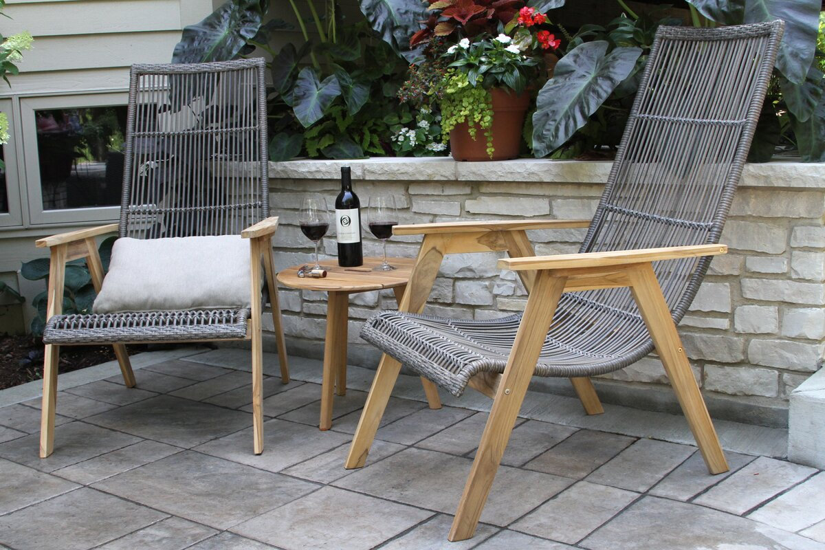 Kennebunkport Teak Patio Chair With Cushions
