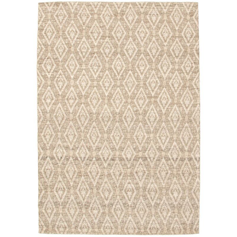 Canora Grey Rexdale Geometric Hand Knotted Brown Area Rug Wayfair