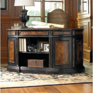 Grandover Solid Wood Oval Executive Desk by Hooker Furniture