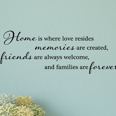 Belvedere Designs LLC Home Is Where Love Resides Wall Quotes™ Decal
