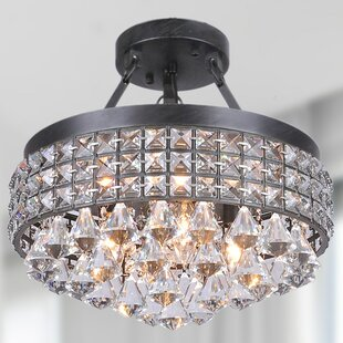 House of Hampton Mckinnie 4-Light Semi Flush Mount