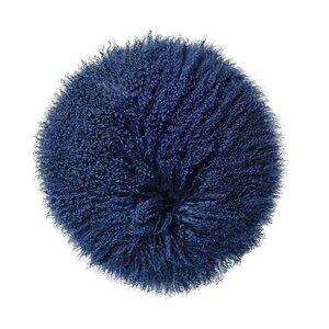 Mongolian Lamb Faux Fur Throw Pillow
