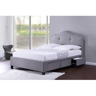 Flemings Queen Tufted Upholstered Low Profile Storage Platform Bed by Rosdorf Park