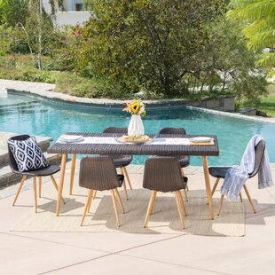 Langley Street Outdoor Wicker 7 Piece Dining Set