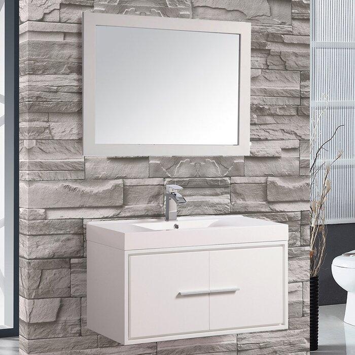 Cypress 36 Single Floating Bathroom Vanity Set With Mirror