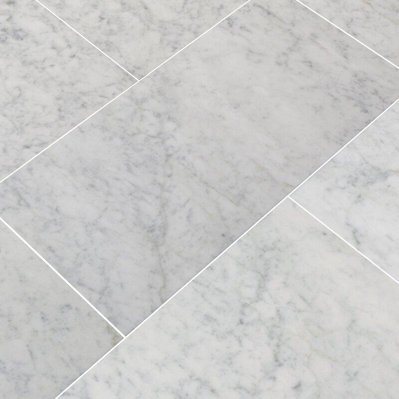 Msi Carrara White 12 X 24 Marble Field Tile Reviews Wayfair