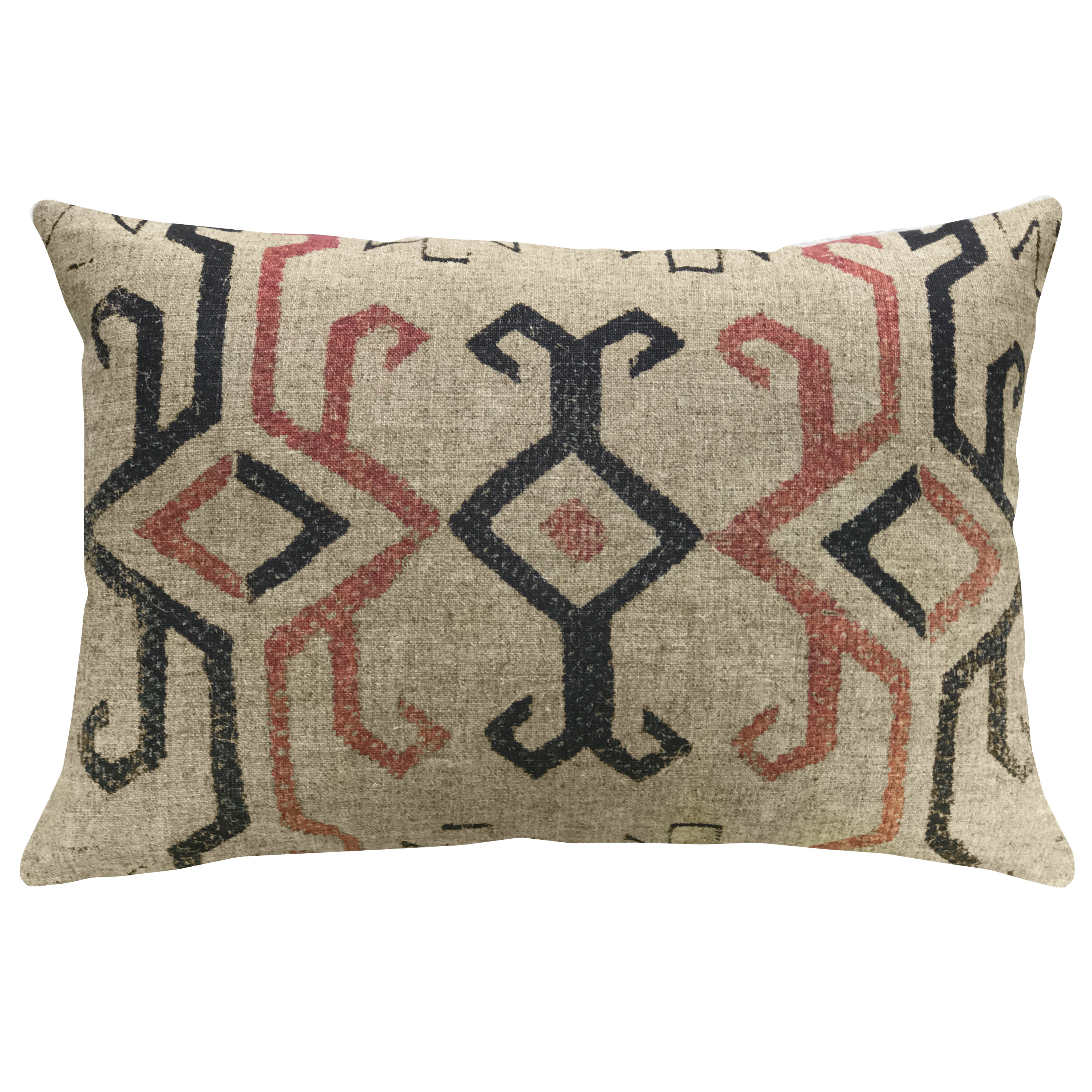 Union rustic lund southwestern linen throw pillow wayfair