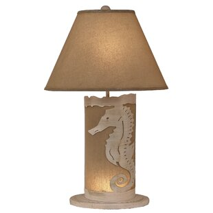 Hutto Seahorse Scene Panel 30 Table Lamp
