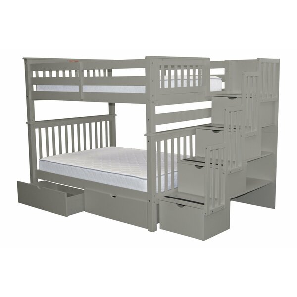 Tena Full Over Full Bunk Bed With Extra Storage Reviews Birch Lane