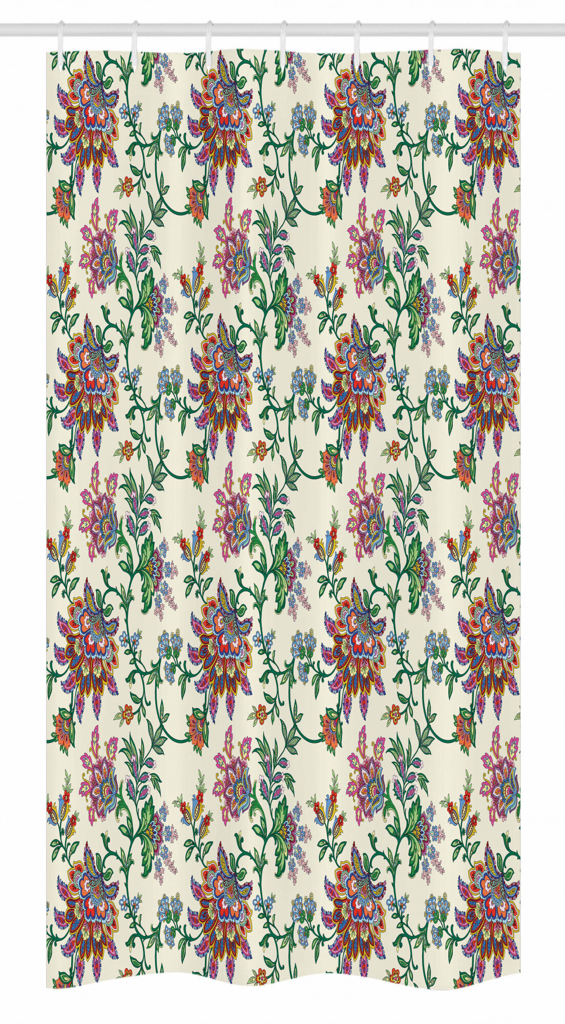 Ambesonne Bohemian Stall Shower Curtain Retro Colourful Flowers Pattern Exquisite Blooms Boho Vintage Floral Art Fabric Bathroom Decor Set With