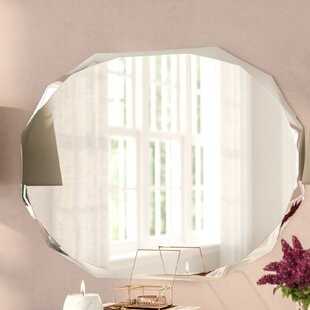 Best Traditional Frameless Diamond Wall Mirror By Willa Arlo Interiors