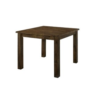 Quintara Counter Height Solid Wood Dining Table Loon Peak