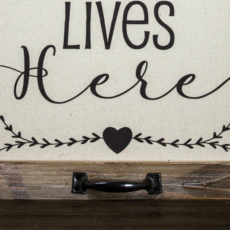 Love Lives Here Farmhouse Framed Sign with Easel