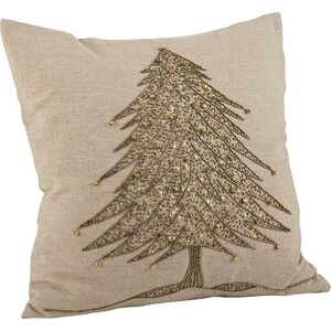 Sapin de Nou00ebl Cotton Throw Pillow