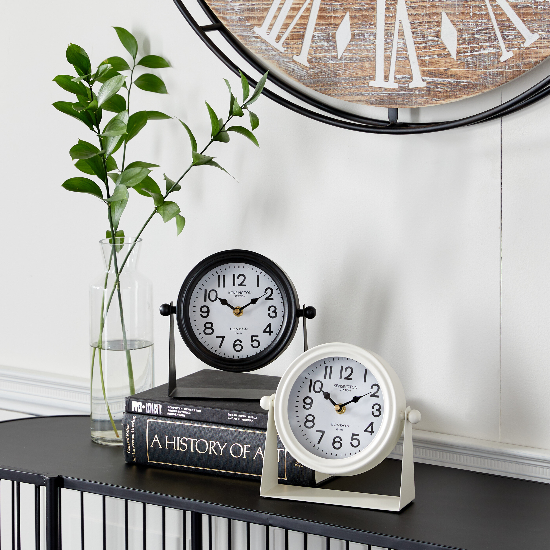Black Medium 7 15 H Mantel Tabletop Clocks You Ll Love In 2021 Wayfair