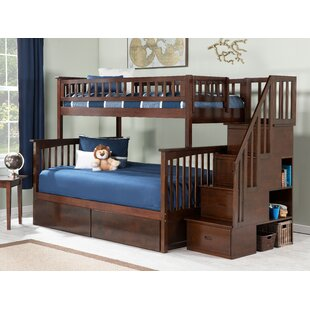 Order Abel Staircase Twin Over Full Standard Bed with Drawers by Harriet Bee Reviews (2019) & Buyer's Guide