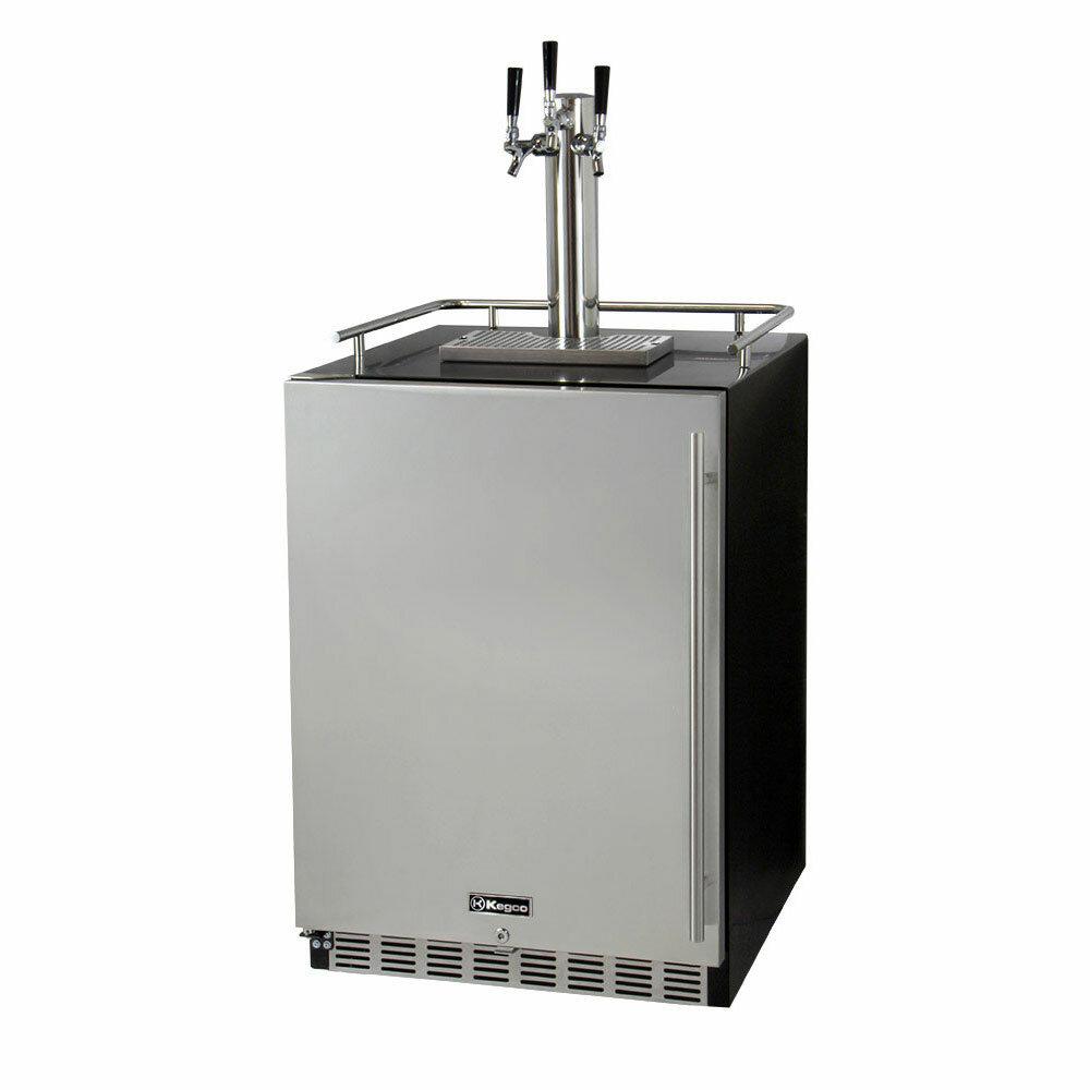 Kegco Triple Tap Full Size Beer Dispenser & Reviews | Wayfair