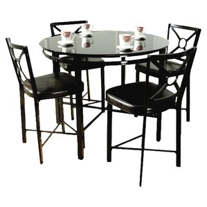 Dinette 5 Piece Counter Height Set by Hazelwood ..