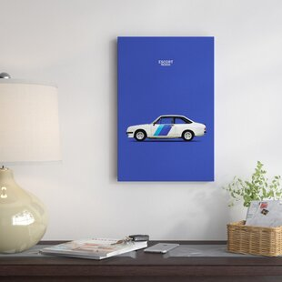 '1978 Ford Escort RS2000' Graphic Art Print on Canvas By East Urban Home