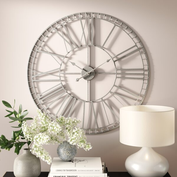 Williston Forge Lemons Oversized 80cm Large Nickel Wall Clock Reviews Wayfair Co Uk