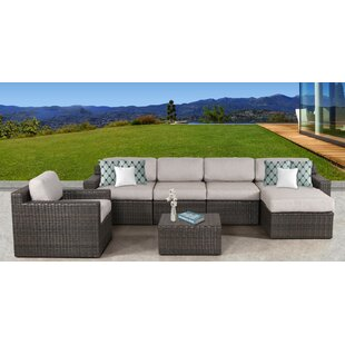 Rosecliff Heights Sabin Brow 7 Piece Sectional Set with Cushions