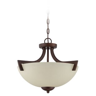 Alvah 3-Light Semi Flush Mount by Winston Porter