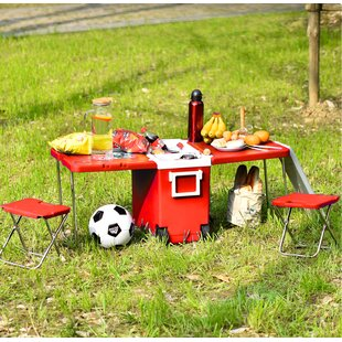 Develin Folding Plastic Camping Table By Sol 72 Outdoor