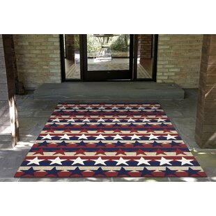 Walton Hand-Tufted Red Indoor/Outdoor Area Rug