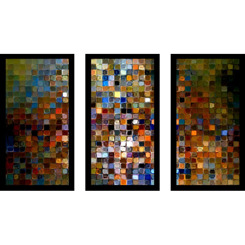 Pictureperfectinternational Tileart1 2007 Max By Mark Lawrence 3 Piece Framed Graphic Art Set Wayfair