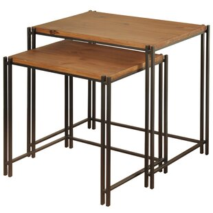 Compare prices Klein 2 Piece End Table Set By Union Rustic