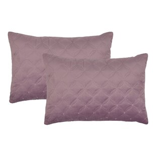 Embroidered Diamond Velvet Boudoir Throw Pillow (Set of 2)
