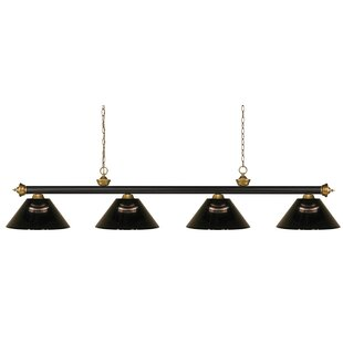 Zephyr 4-Light Steel Pool Table Light with Hanging Chain by Red Barrel Studio