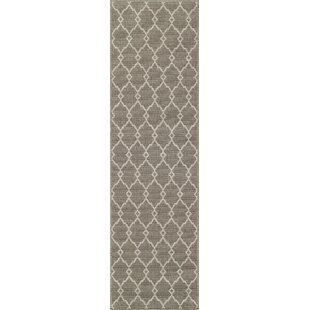 Halliday Taupe Area Rug by Beachcrest Home