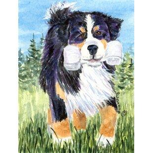 Bernese Mountain Dog 2-Sided Garden Flag