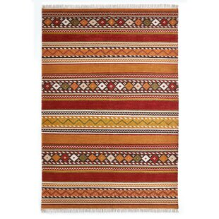 Broken Bow Hand-Woven Orange/Red Rug by Alpen Home
