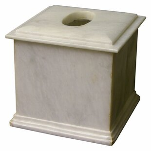 Nature Home Decor Series 300 in White Z Marble Tissue Box Cover