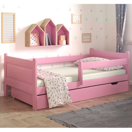 Funktionsbett Leo mit Schublade | Schlafzimmer > Betten > Funktionsbetten | Rosa | Massivholz - Holz | Nordville