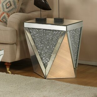 Find for Blaker Drum Mirrored End Table By Rosdorf Park