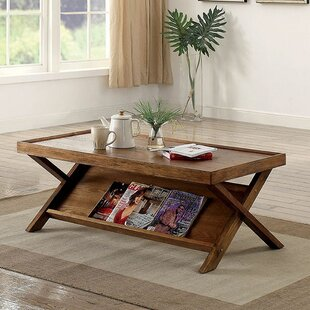 Adamski Coffee Table with Tray Top by Williston Forge