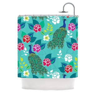 mexican peacock shower curtain