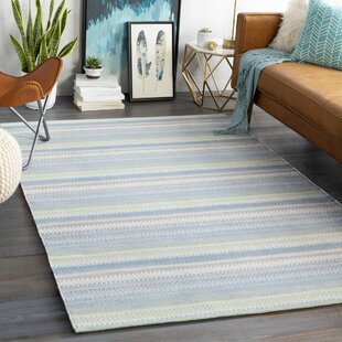 Bybrook Striped Handwoven Flatweave Sage Indoor/Outdoor Area Rug