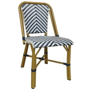 Zara Modern Cafe Bistro Stacking Patio Dining Chair (Set of 2) by Longshore Tides