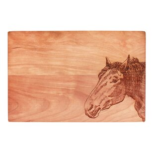 Hey Neigh-bor Cherry Wood Cutting Board