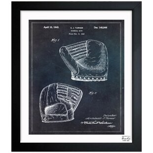 Baseball Mitt 1945 Framed Painting Print