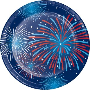 Fireworks Celebration Paper Appetizer Plate (Set of 24)