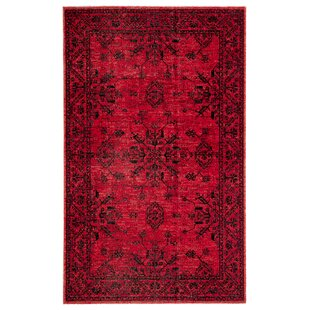 Jamestown Medallion Red/Black Indoor/Outdoor Area Rug