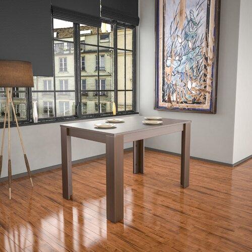 Iriemi Dining Set with 6 Chairs Ebern Designs Colour (Table): Walnut, Colour (Chair): Cream/Oak