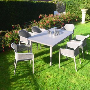 Byrge 6 Seater Dining Set With Parasol By Sol 72 Outdoor
