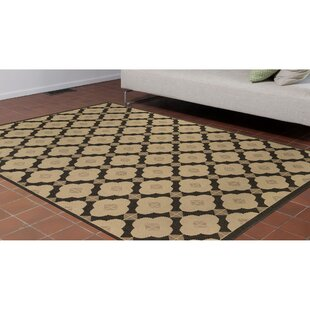 Deck Modern Tile Ivory Indoor/Outdoor Area Rug